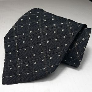 Franco Bassi grey black with tan square dots tie